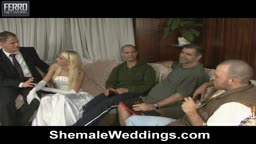 Shemale fucking her hubby in the ass