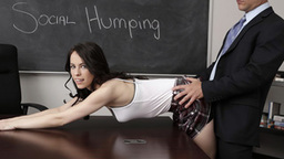 Superb Veronica Radke bends over and gets punished in school
